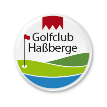 Logo of golf course named Golfclub Hassberge e.V.