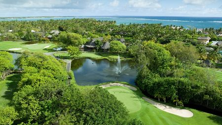 Overview of golf course named Constance Belle Mare Plage