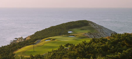 Overview of golf course named Weihai Point Golf and Resort