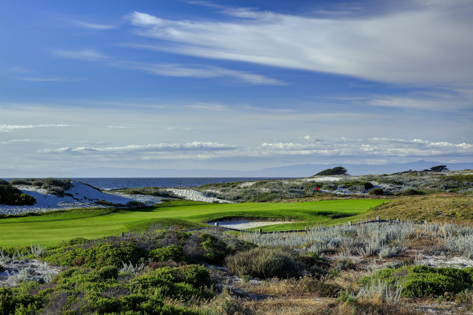 Overview of golf course named The Links at Spanish Bay