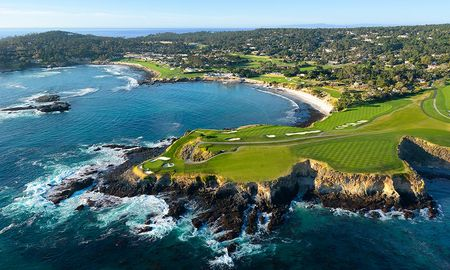Overview of golf course named Pebble Beach Golf Links