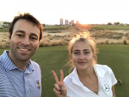 Trump international golf club dubai patrick rahme checkin picture