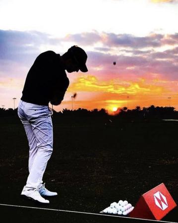 Abu dhabi golf club alejandro canizares checkin picture