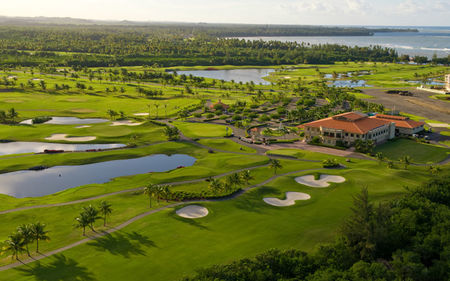 Overview of golf course named Coco Beach Golf and Country Club
