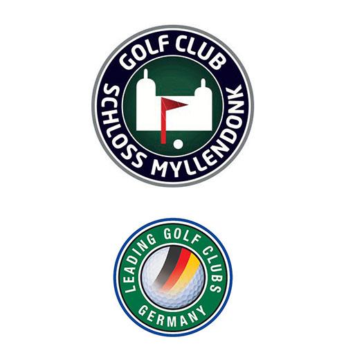 Logo of golf course named Golfclub Schloss Myllendonk