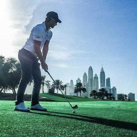 Majlis at emirates golf club alejandro canizares checkin picture