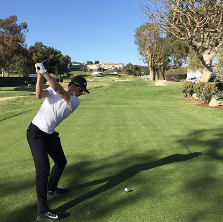 Riviera country club thomas pieters checkin picture
