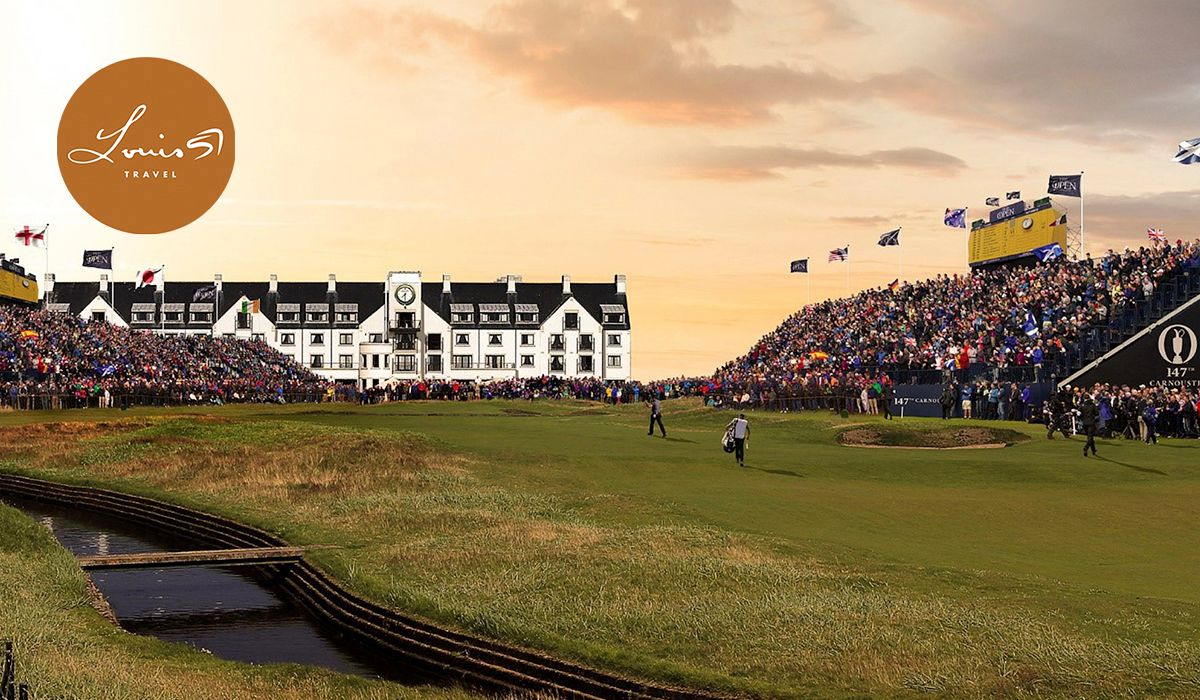 Cover of golf event named The 2018 Open at Carnoustie + Guaranteed Old Course - 10 Night VIP Tour