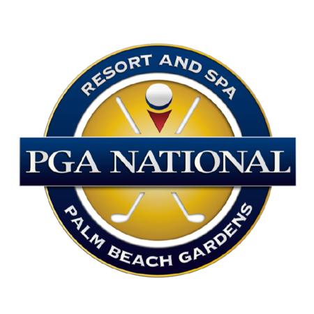 Logo of golf course named PGA National Golf Club - The Palmer