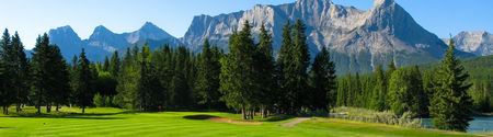 Overview of golf course named Canmore Golf and Curling Club