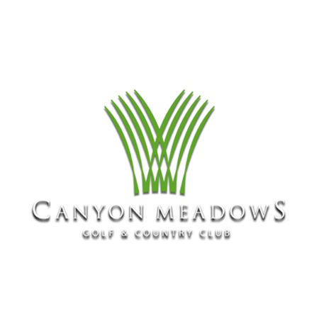 Logo of golf course named Canyon Meadows Golf and Country Club