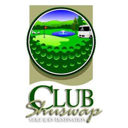 Logo of golf course named Club Shuswap Golf and R.v.