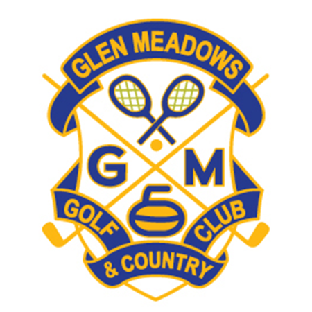 Logo of golf course named Glen Meadows Golf and Country Club