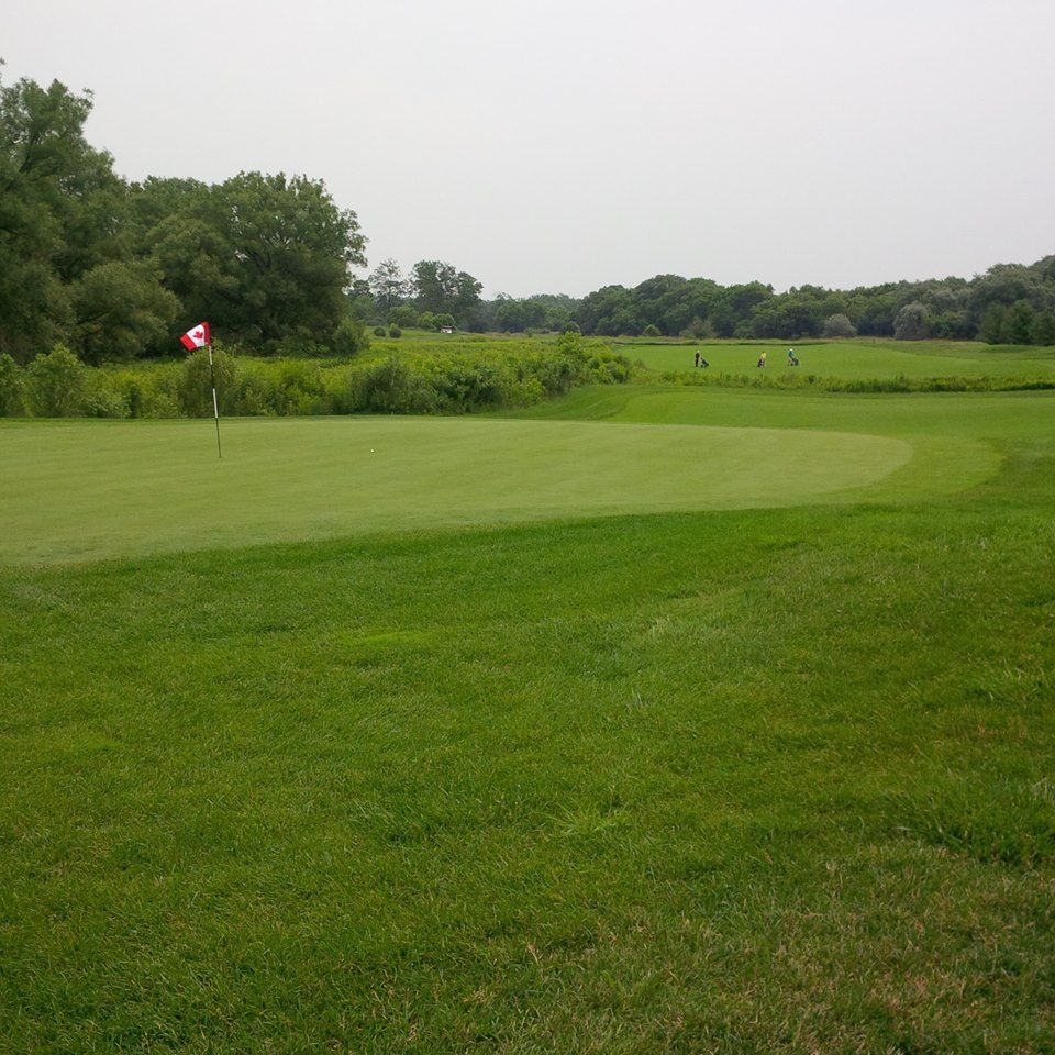 Grey silo golf course cover picture
