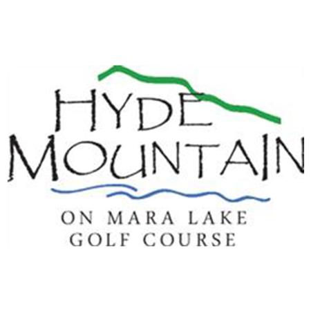 Logo of golf course named Hyde Mountain on Mara Lake Golf Course