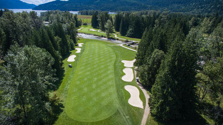 Overview of golf course named Kokanee Springs Resort Club
