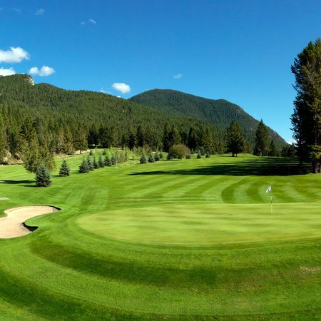 Overview of golf course named Radium Resort