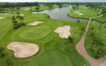 Overview of golf course named Bangpakong Riverside Country Club