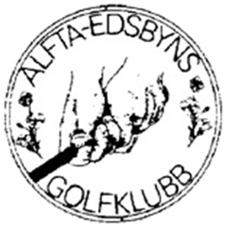 Logo of golf course named Alfta-Edsbyns Golfklubb and P&p