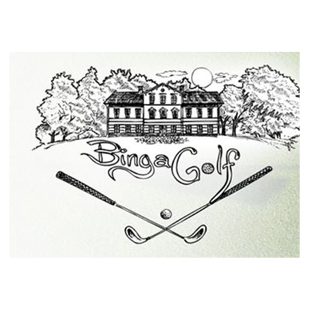 Logo of golf course named Binga Golf P&p