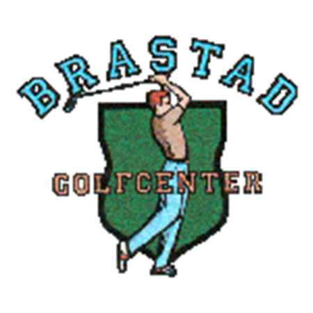 Logo of golf course named Brastad Golfcenter P&p and Club