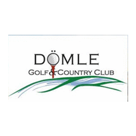 Logo of golf course named Domle Golf and C C