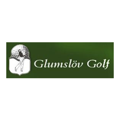 Logo of golf course named Glumslof Golf and P&p