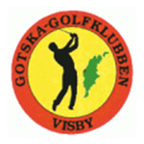 Logo of golf course named Gotska Golfklubb and P&p