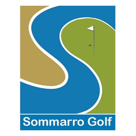 Logo of golf course named Sommarro Golf + P and P