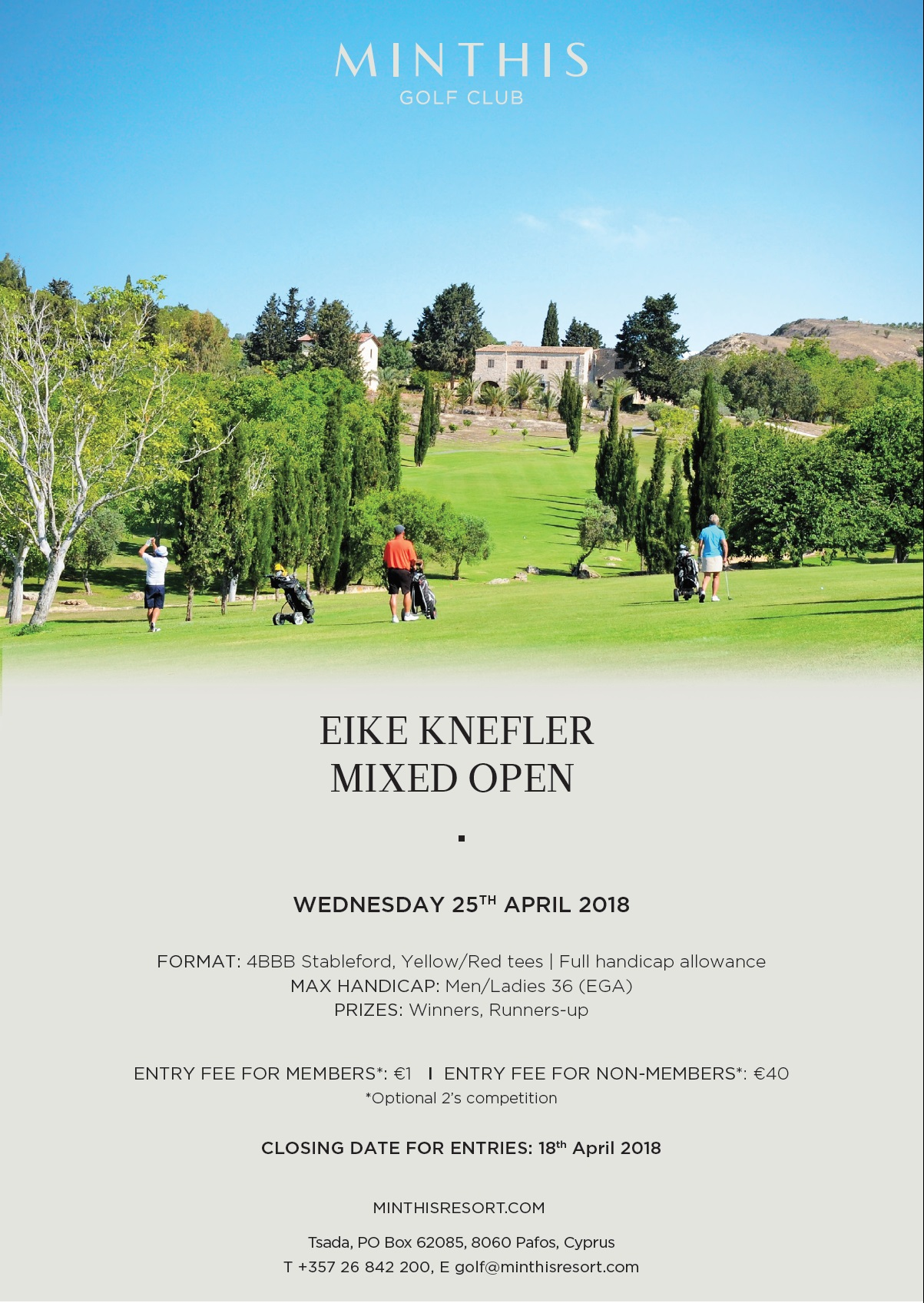 Cover of golf event named EIKE KNEFLER MIXED OPEN