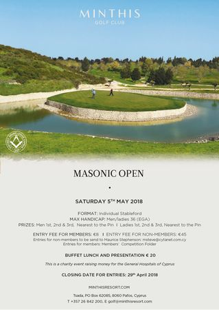 Cover of golf event named Masonic Open