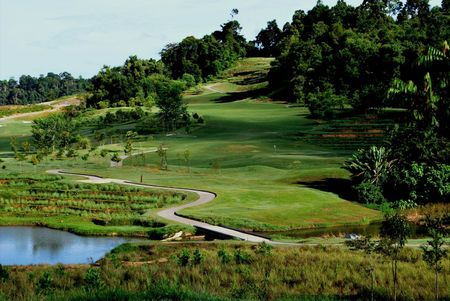 Overview of golf course named 99 East Golf Club Langkawi