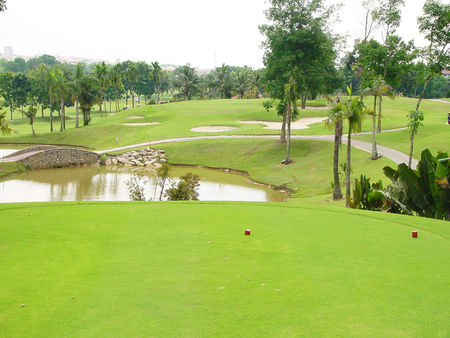 Overview of golf course named Daiman 18 Johor Bahru