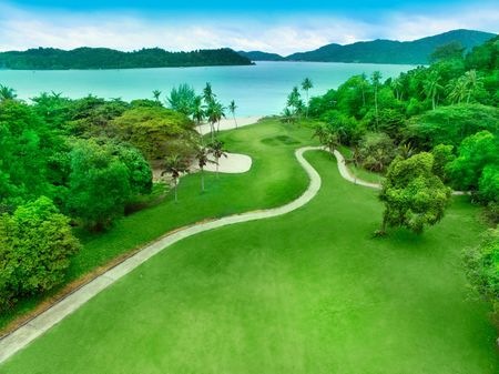 Overview of golf course named Damai Laut Golf and Country Club
