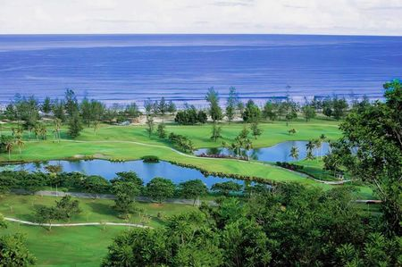 Overview of golf course named Karambunai Resorts Golf Club