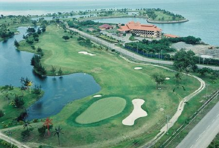 Overview of golf course named Kudat Golf and Marina Resort