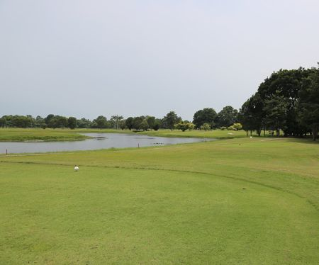 Overview of golf course named Kukup Golf Resort