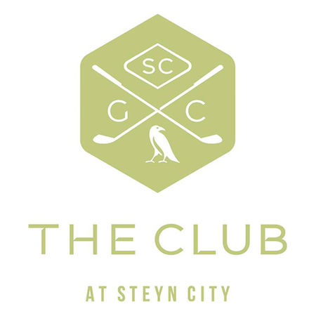 Logo of golf course named The Club at Steyn City