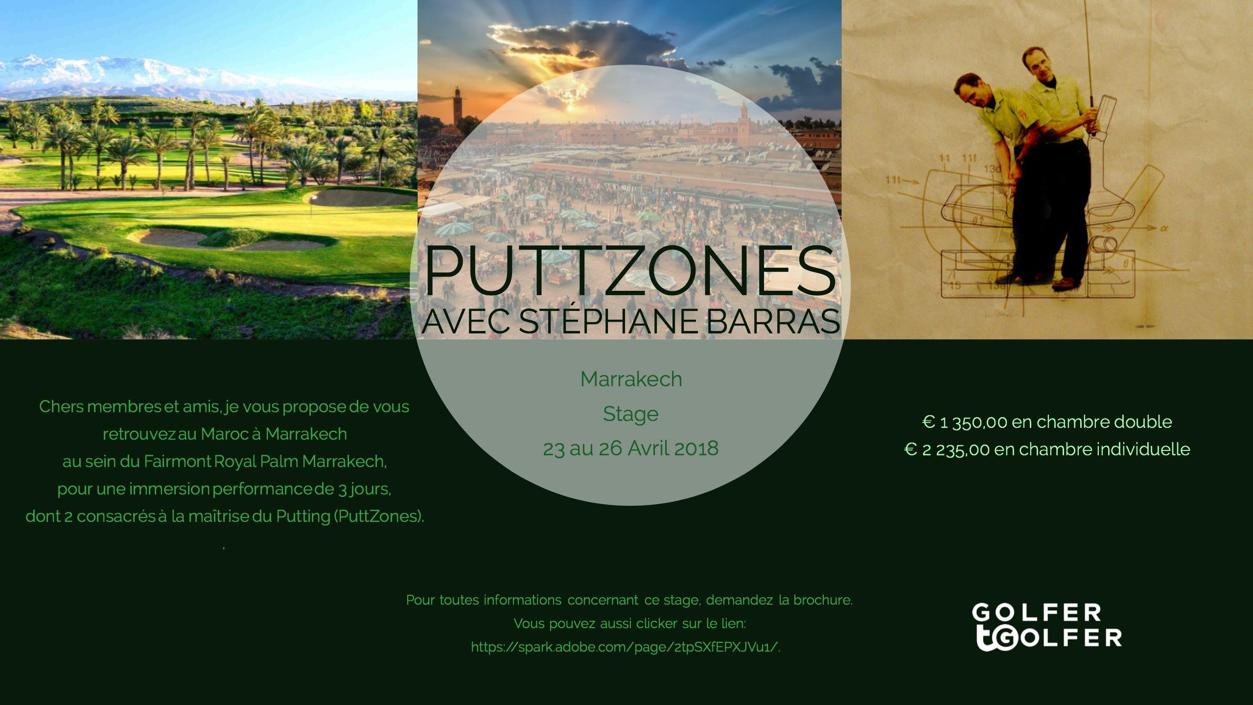 Cover of golf event named PuttZones Camp Marrakech avec Stéphane Barras