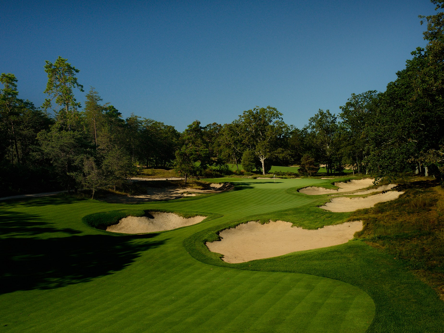 Overview of golf course named Pine Valley Golf Club