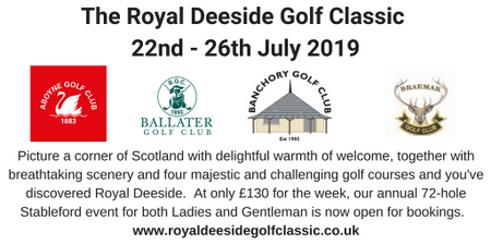 Cover of golf event named Royal Deeside Classic