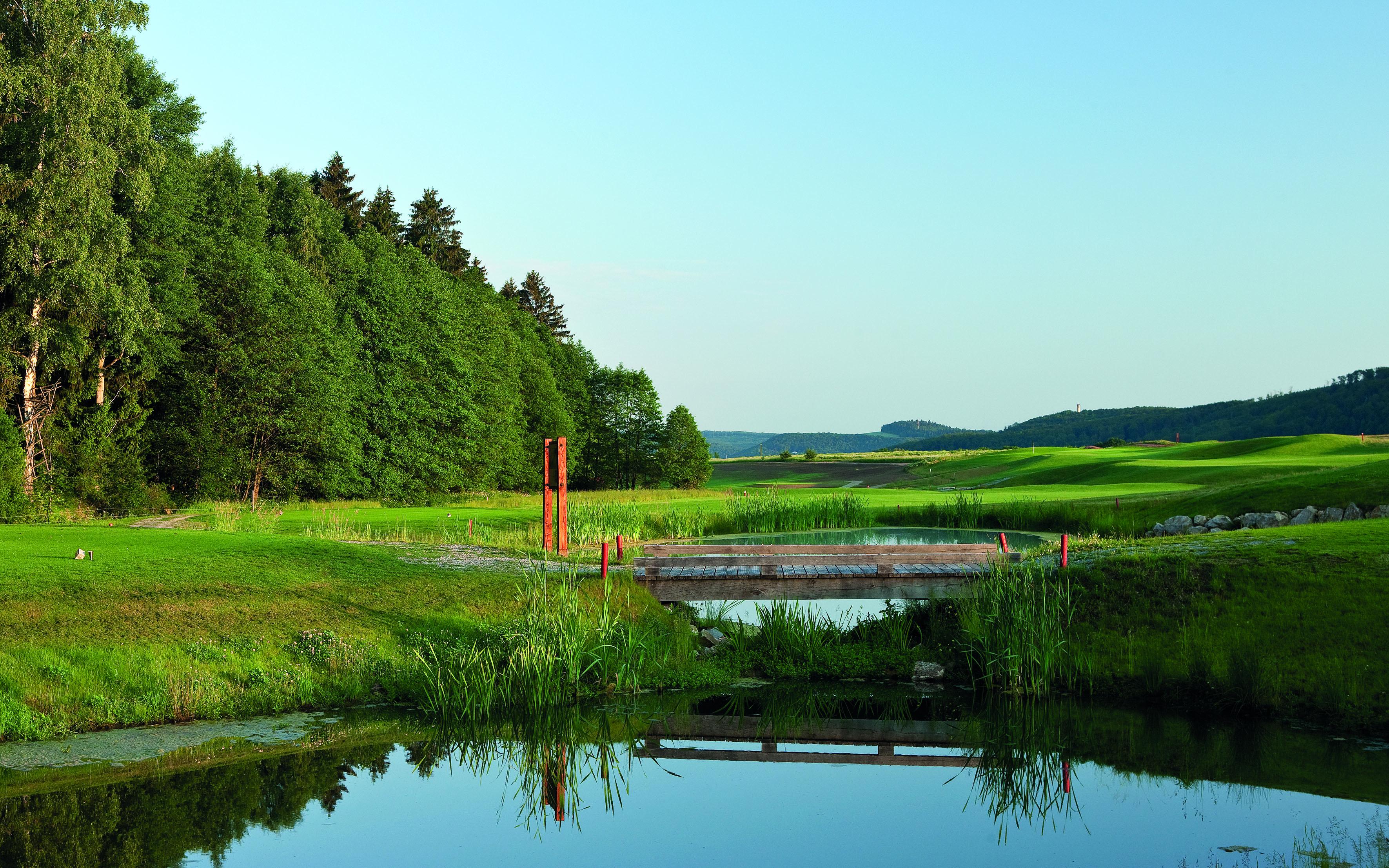 Overview of golf course named Spa & GolfResort Weimarer Land