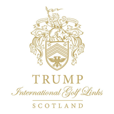 Logo of golf course named Trump International Golf Links