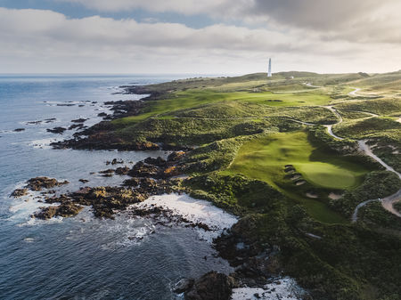 Overview of golf course named Cape Wickham