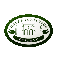 Logo of golf course named Pestovo Golf and Yacht Club