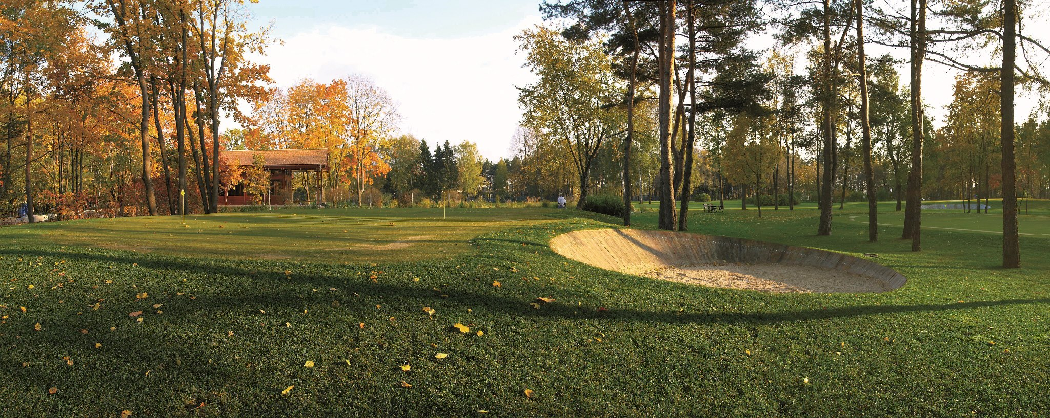 Overview of golf course named Pirogovo Resort