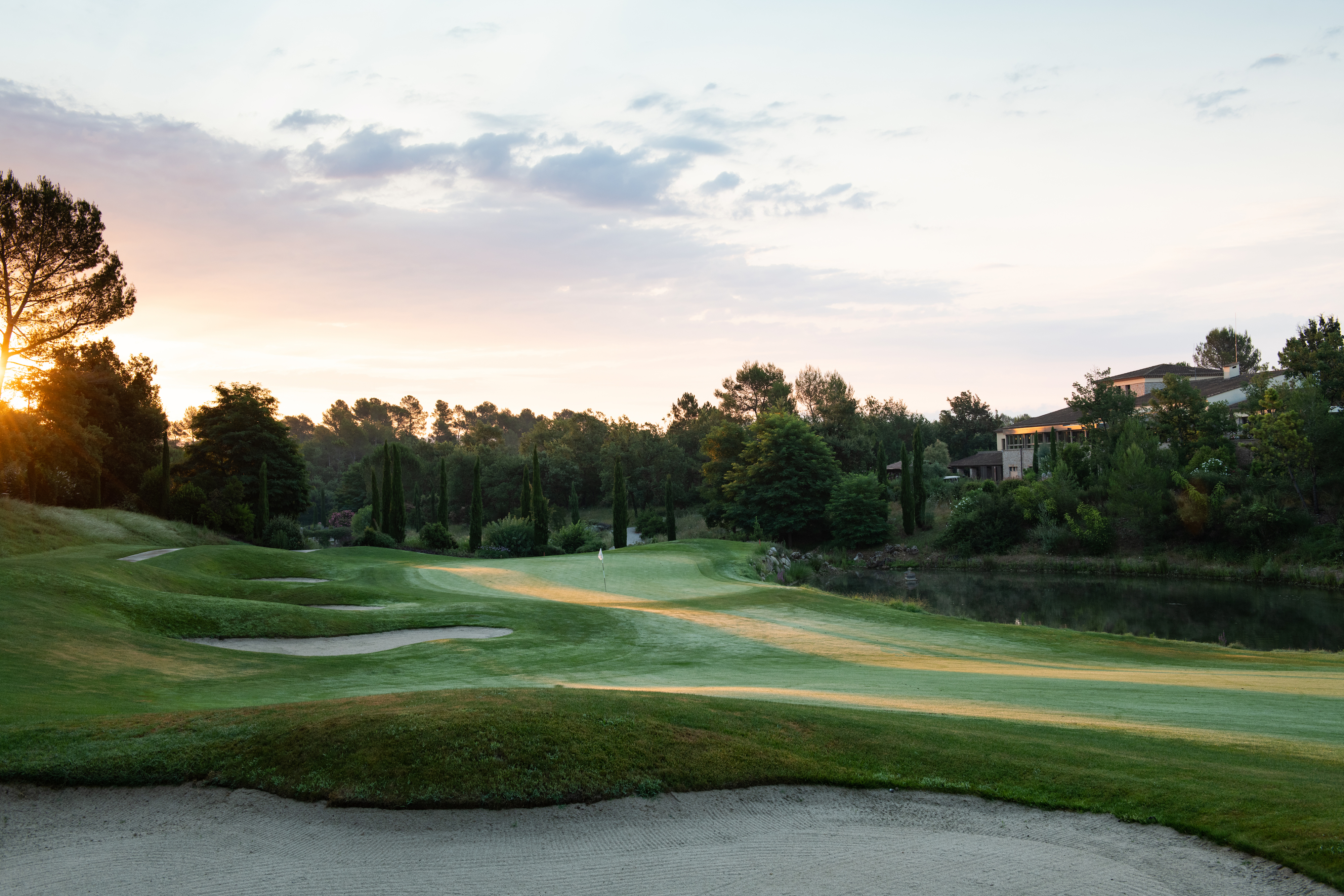 Overview of golf course named Terre Blanche Hotel Spa Golf Resort - Le Riou