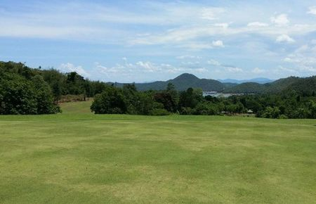 Overview of golf course named Sri Nakarin Dam Golf Course