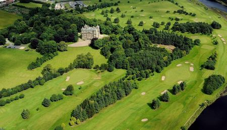 Overview of golf course named Duff House Royal Golf Club