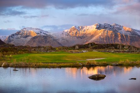 Overview of golf course named Lofoten Links